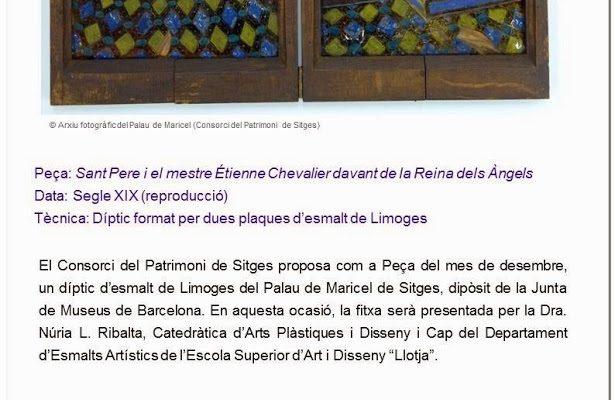 La Peça de Mes. Museus de Sitges. Conferència a càrrec de Núria L. Ribalta