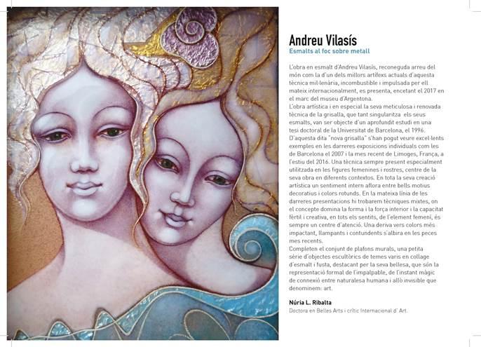 EXPOSICIÓ ESMALTS ANDREU VILASÍS. Invitació ENAMEL EXHIBITION ANDREU VILASÍS